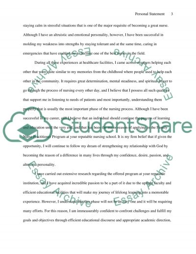 Personal Statement: Career and Educational Goals and Objectives Personal Statement example