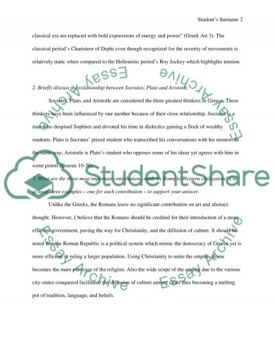 Short Answers essay example