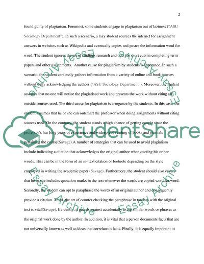 Short essay #1
