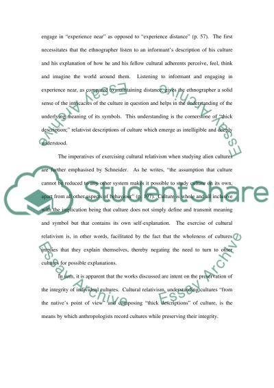 Culture Concept essay example