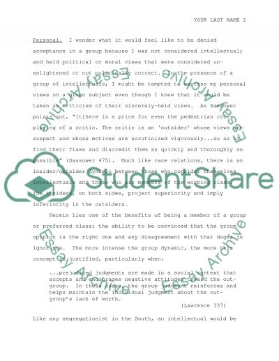 Power and Privilege Feelings of Exclusion essay example