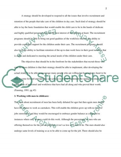 Managing Day Care essay example