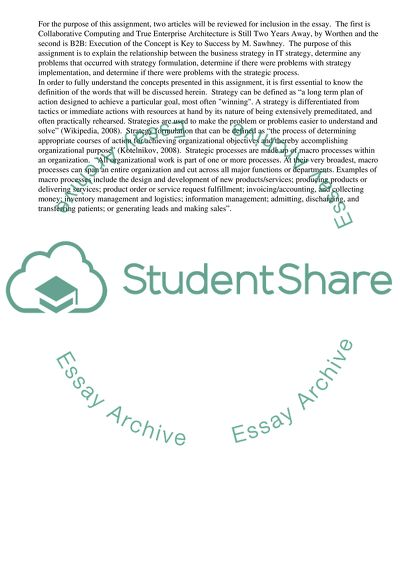 Strategic Analysis and Selection of Information Systems Essay