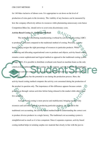 Cost method november essay example