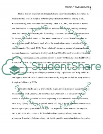 Financial Investment Analysis essay example