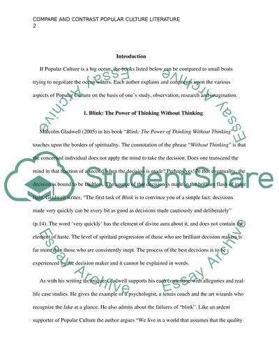 Popular culture essays
