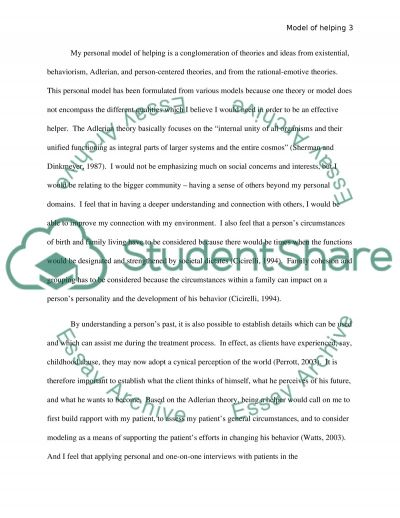 Model of Helping Essay example