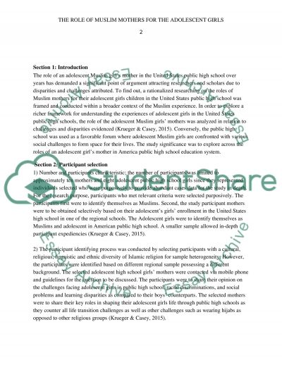 Focus group essay example