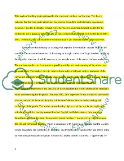 A critical analysis of Uk Teaching standard 2 essay example
