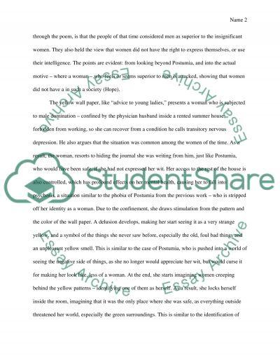 the yellow wallpaper 6 essay