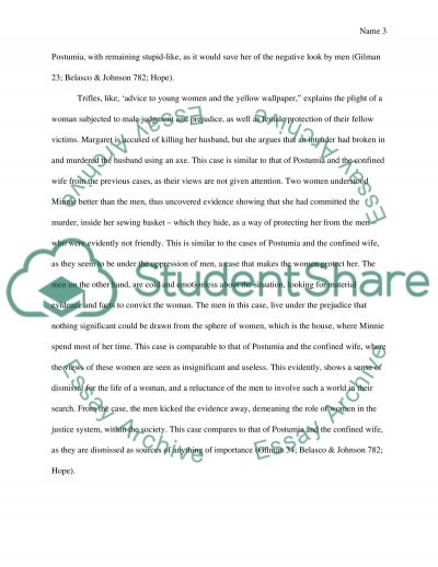 the yellow wallpaper and advice to young ladies essay