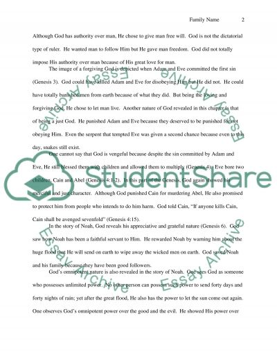 Nature of God essay example