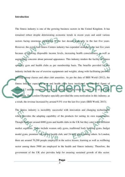 CORPORATE STRATEGY - FITNESS INDUSTRY NEW YORK FITNESS essay example