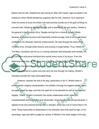Example of research paper on william shakespeare