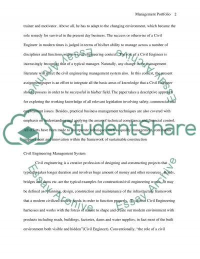 Construction Industry Essay essay example