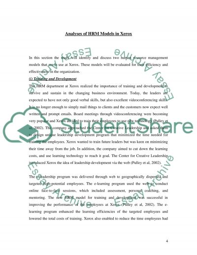 The contribution of Human Resource Management essay example
