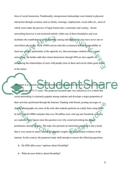 THE INFLUENCE OF SOCIAL NETWORKING SITES (SMS) ON THE INTERPERSONAL RELATIONSHIPS OF STUDENTS