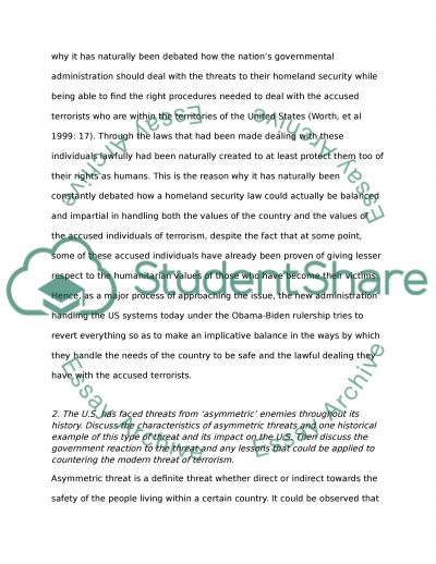 Homeland Security paper essay example