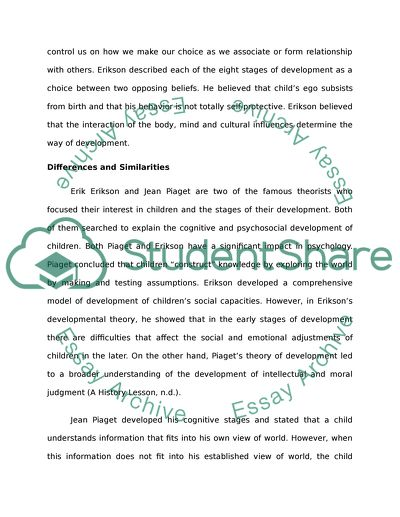 Essay On Importance Of English Language Comparing Erikson To Piaget History Assignment Help also I Need A Professional Business Plan Writer Comparing Erikson To Piaget Essay Example  Topics And Well Written  English Literature Essay Topics