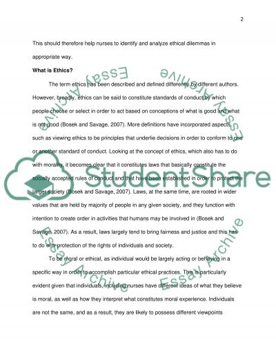Ethical Considerations in Nursing Education essay example