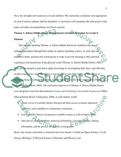 Curriculum Bachelor Essay essay example