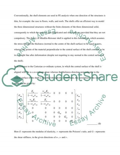 Shell Elements: Implementation in Sequentially Linear Analysis essay example