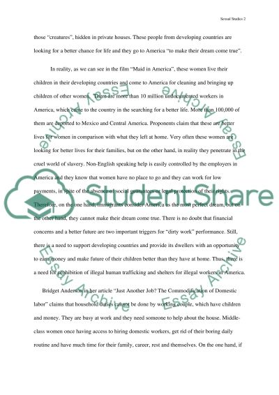 Gender and Sexual Studies Questions essay example