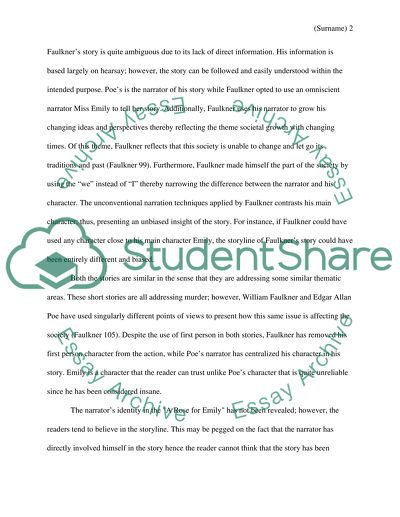 Mental Health Essays Similarities And Differences Of The Stories A Rose For Emily By Wiliam  Faulkner And A Tell Essay Learning English also English Essay Outline Format Similarities And Differences Of The Stories A Rose For Emily By  English Extended Essay Topics