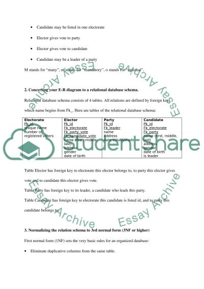 Relational Data Model essay example