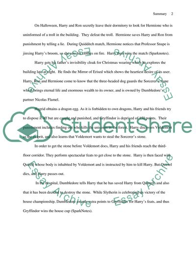 Harry Potter and the Sorcerers Stone: Plot Overview Book Report/Review