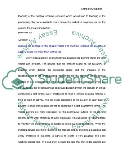 Process Of Exploring a complex situation essay example
