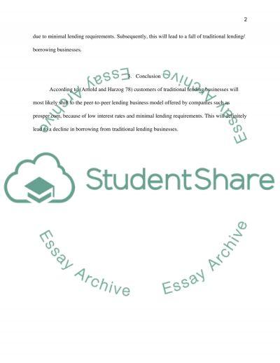 Electronic Commerce & Prosper.com essay example