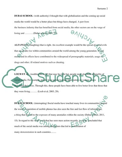 Using Secondary Sources Assignment