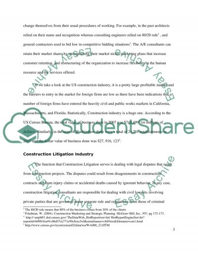 Marketing analysis for Construction Forensic essay example