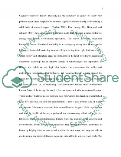 leadership essays samples