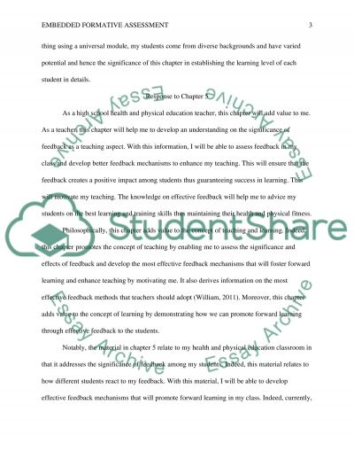 Embedded Formative Assessment essay example