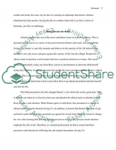 Cider House Rules Essay example