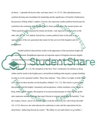 The Thesis Statement Of An Essay Must Be Sir Gawain And The Green Knight Fahrenheit 451 Essay Thesis also Narrative Essays Examples For High School Sir Gawain And The Green Knight Essay Example  Topics And Well  Compare And Contrast High School And College Essay