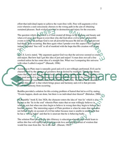 The Problem Of Sins And Evil Essay Example  Topics And Well Written  The Problem Of Sins And Evil