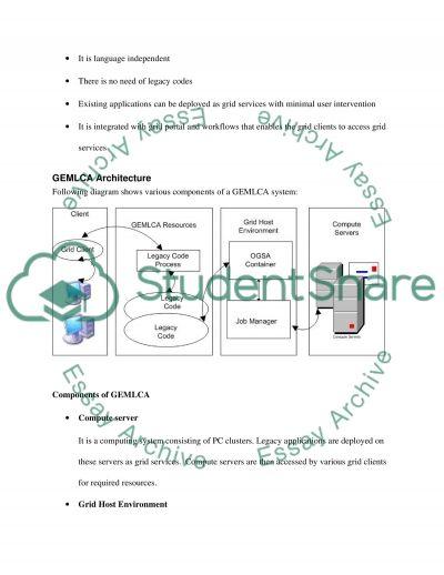 Grid Computing Master Essay essay example