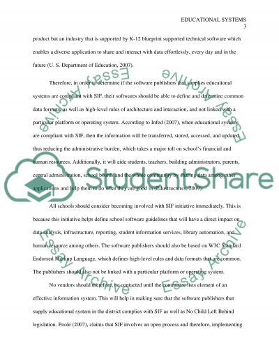 Educational infosystems