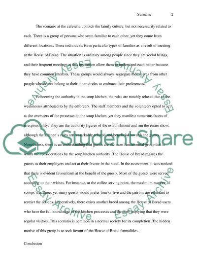 soup kitchen essay