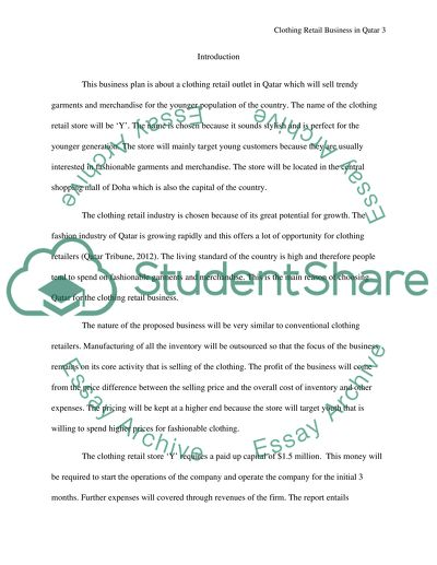 Business Plane Term Paper Example | Topics and Well Written Essays