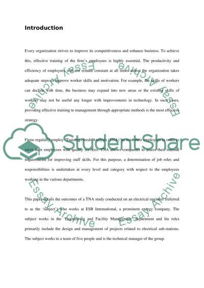 T&D 2 essay example