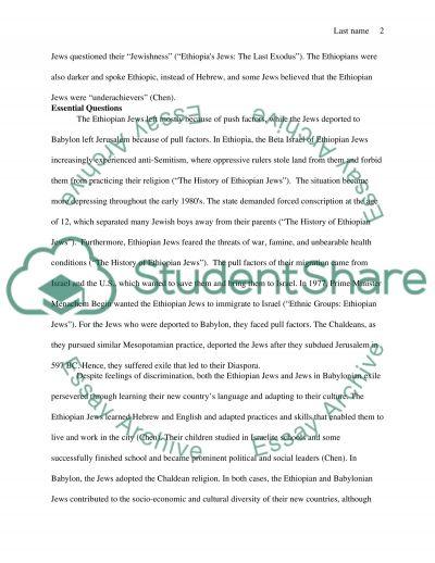 Jewish History essay example