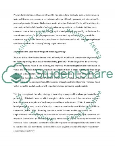 Brand management: fortunate foods Essay example
