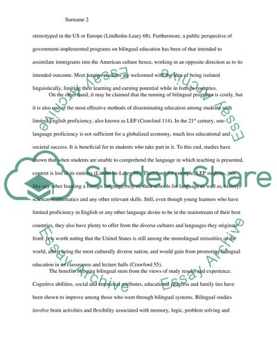 INFORMATIVE ESSAY: The benefits and necessity of bilingual education in schools and universities
