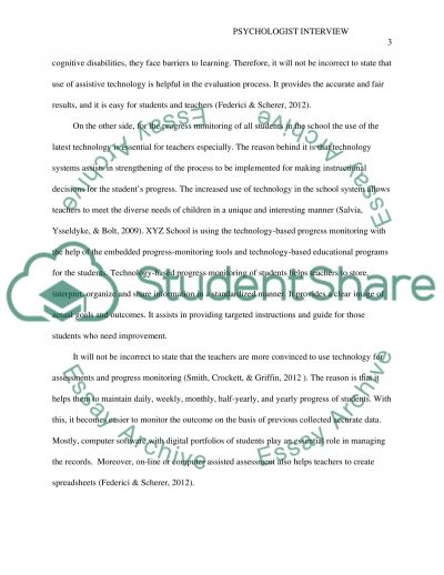 School Psychologist Interview essay example
