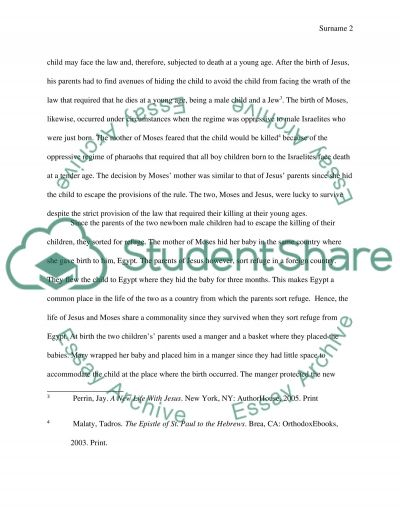 Moses And Jesus Essay example