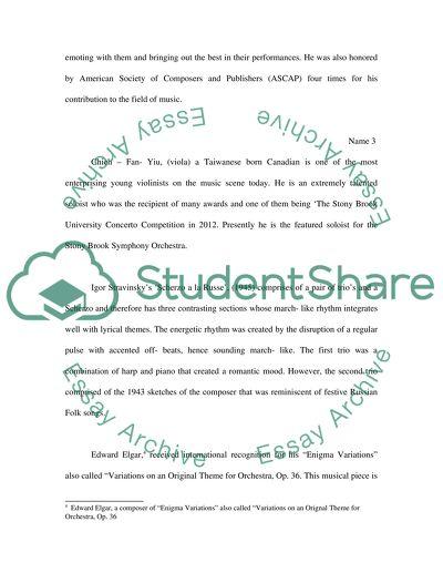 Piano concert report essay communication supervisor resume